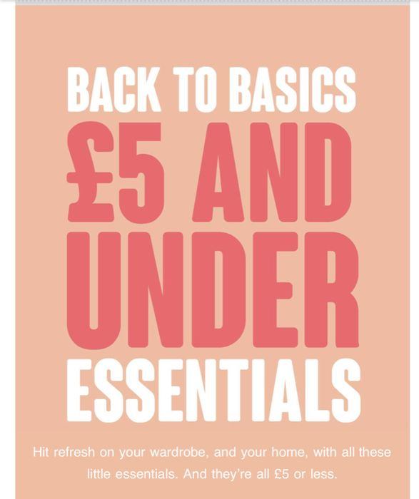 £5 & under ESSENTIALS/ All Item in This Deal Are £5 or Less