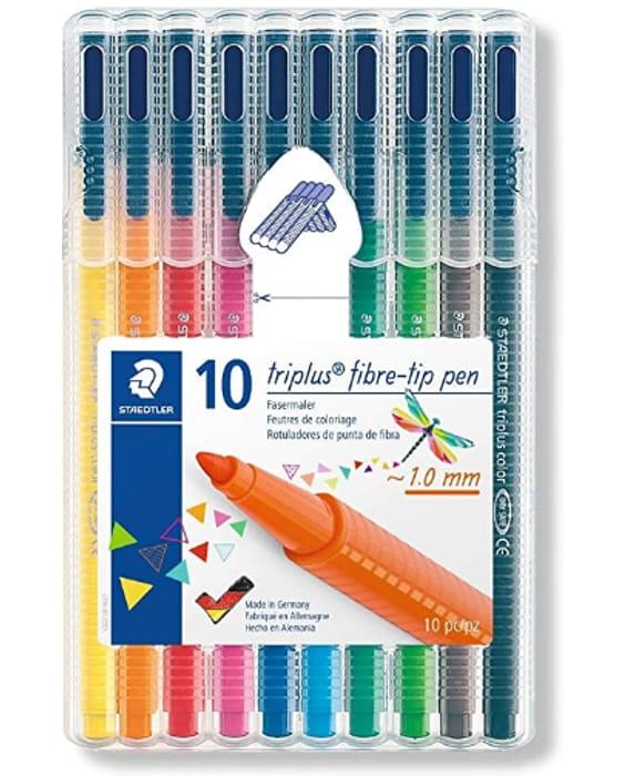 Staedtler 323 Triplus Colour Fibre-Tip Pens, 1.0mm, 10 Pack *4.8 STARS*