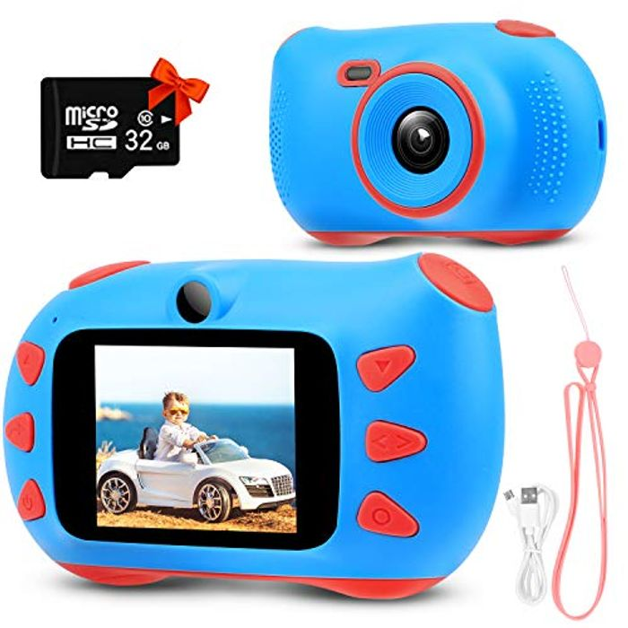 58% Off - Kids 20MP Digital Camera Inc 32GD SD Card - £17.64 Delivered