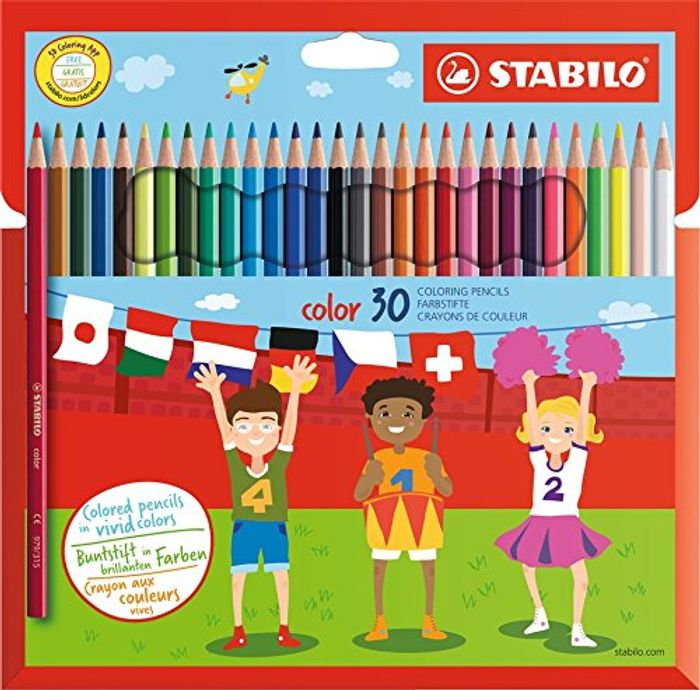 BEST EVER PRICE Colouring Pencil STABILO Color Wallet of 30 Assorted Colours