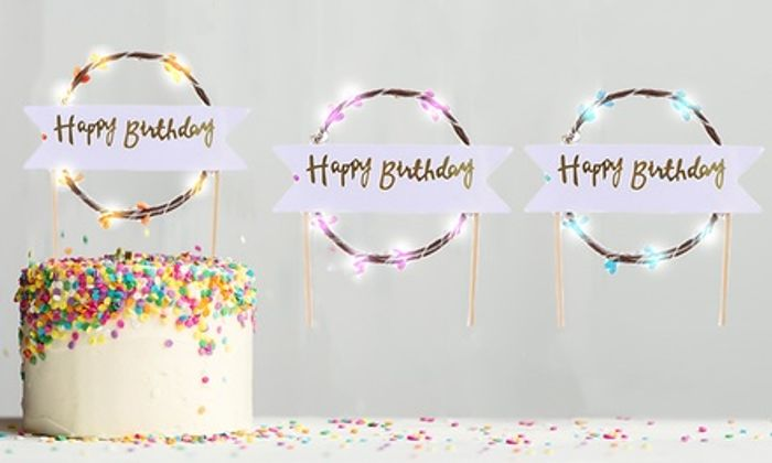 Happy Birthday LED Cake Toppers