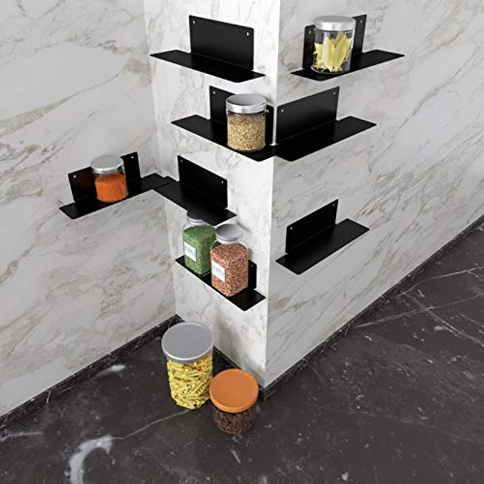 Stackable Spice Rack Organizer, Pack of 8