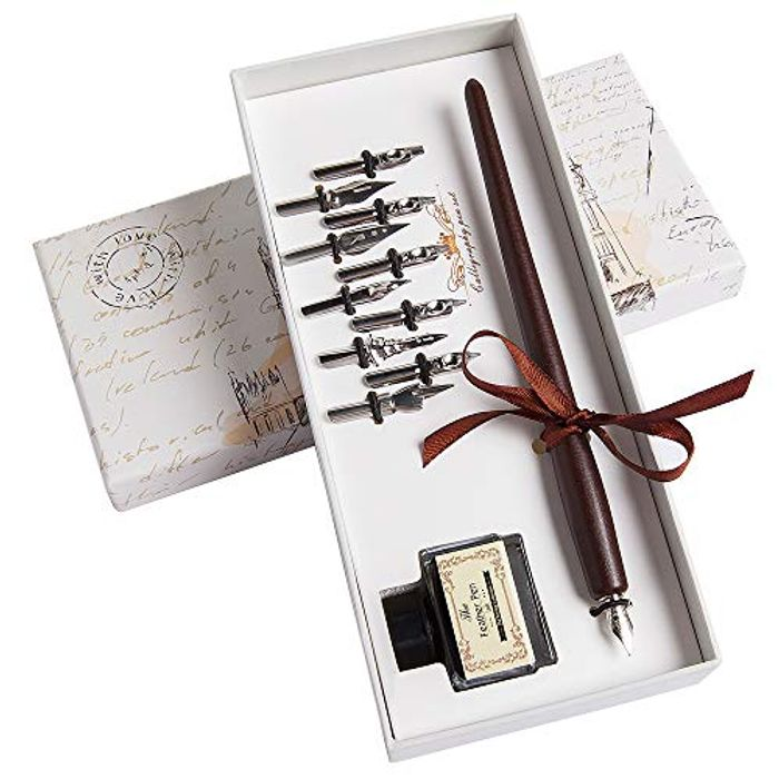 Calligraphy Set Dip Pen and Ink Set 14 Pieces with Calligraphy Pen, 11 Nibs