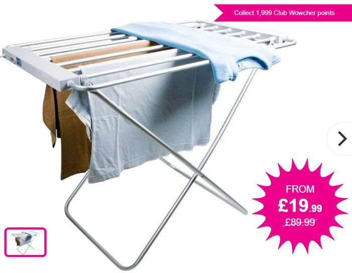 Electric Heated Clothes Airer - Only £26.98 Delivered at Wowcher
