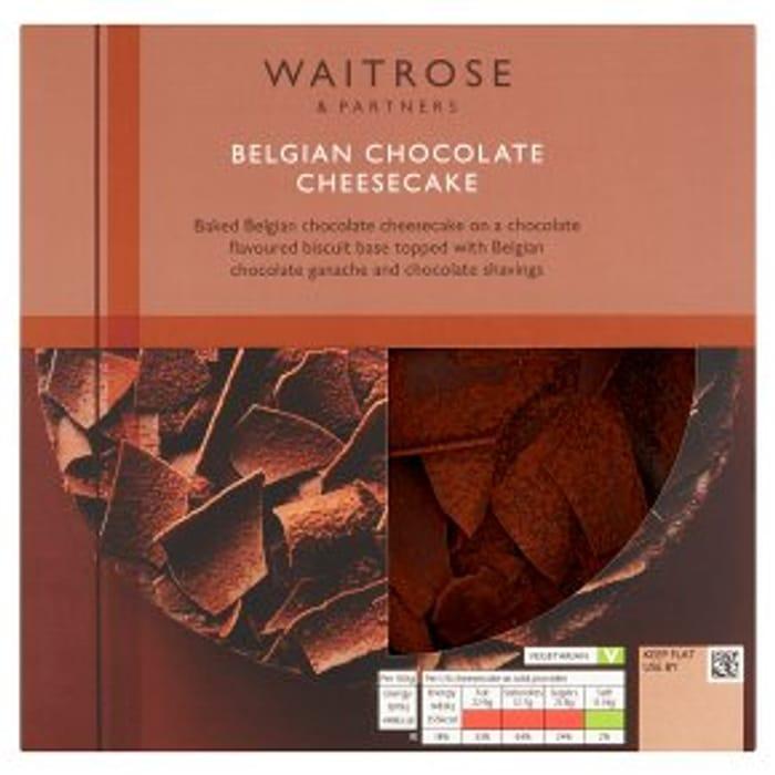 Waitrose Belgian Chocolate Cheesecake 475g