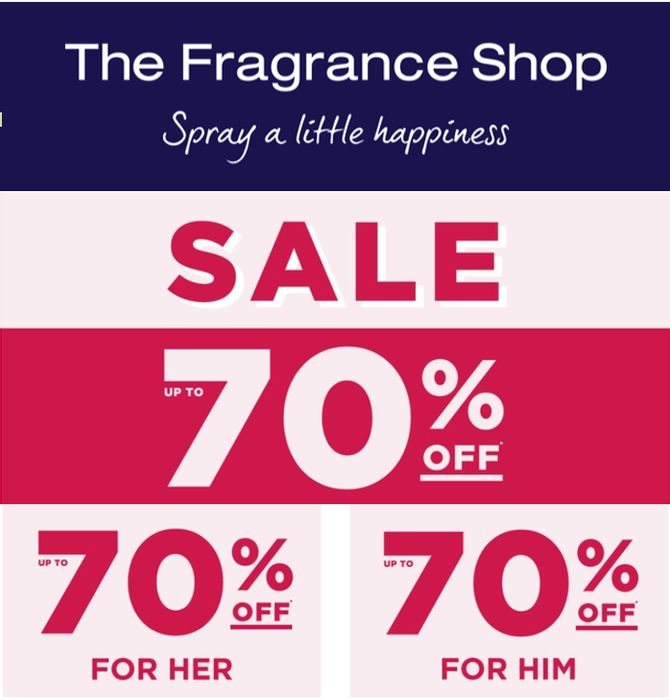 The Fragrance Shop Sale - up to 70% OFF + EXTRA 18% OFF