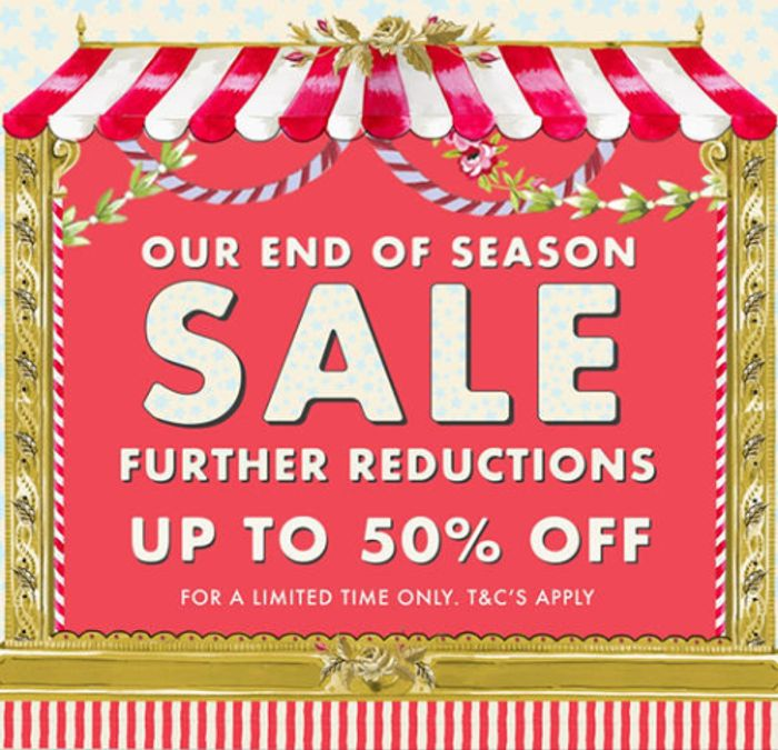 Cath Kidston Up To 50% Off End Of Season Sale + Free Delivery £30+