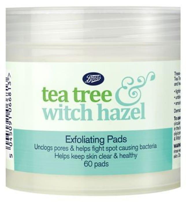 Boots Tea Tree & Witch Hazel Exfoliating Pads 60