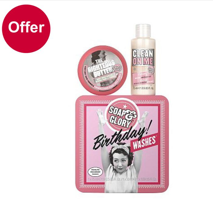 PRICE DROP : On Selected Soap and Glory/ Gift Sets Only £3.33