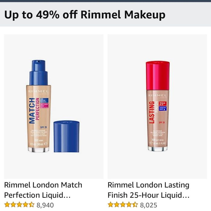 Up to 49% off Rimmel Makeup