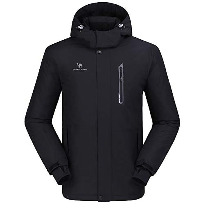 Windproof Ski Rain Snow Jacket Winter Warm Fleece Jackets with Hood