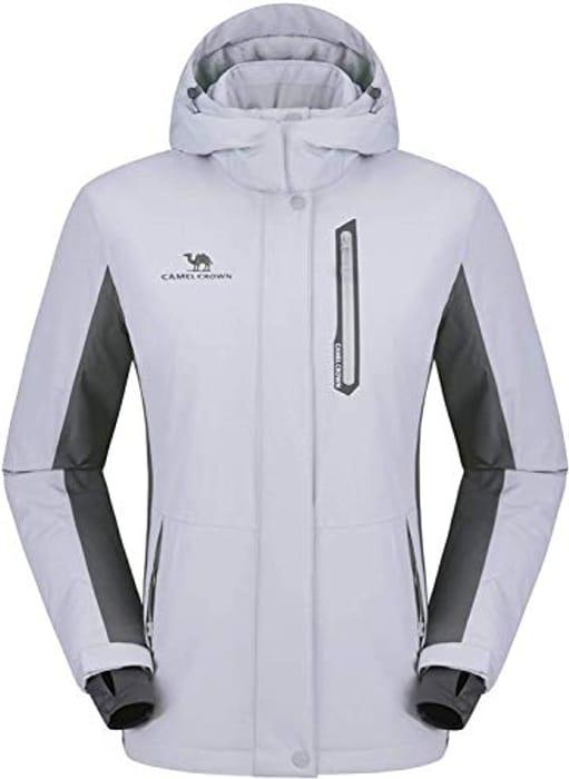 CAMEL CROWN Women's Waterproof Jacket Windproof Ski Fleece Jacket