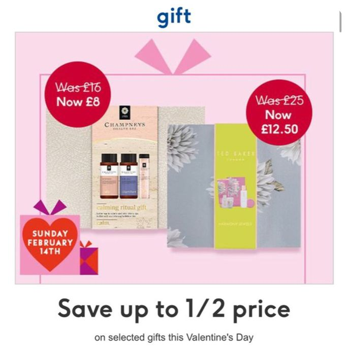 Valentine Day Gifts Offer: Up to 1/2 Price on Selected Gifts