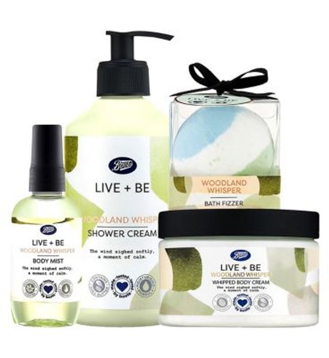 In Stock : Boots Live+Be Woodland Whisper Bundle/ £5.50 Only