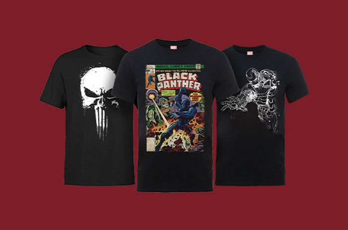 Flash Offer Marvel T-Shirts Only £8.99