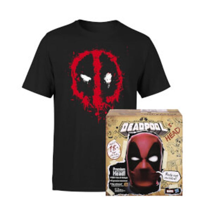 Deadpool Head and T-Shirt Bundle for Only £99.99!
