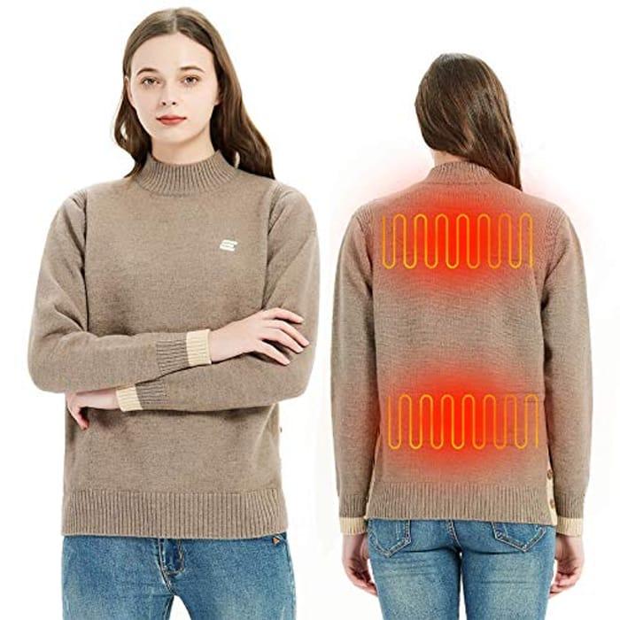 Half Price! Heated Sweatshirt Jumper (Code works on Men & Women Jumper)