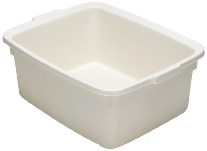 Addis 502814 Plastic Butler Large Rectangular Bowl, Linen Cream, 12.5 Litre