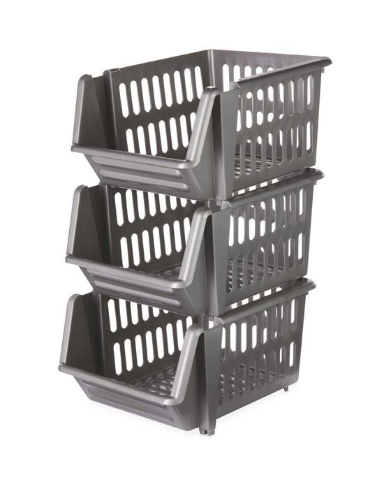 Stackable Baskets 3 Pack