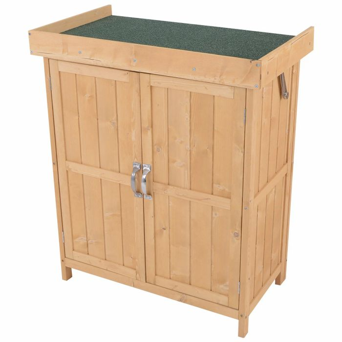 Outsunny 1.4 X 2.4ft Mini Garden Storage Cabinet with CODE Winter6