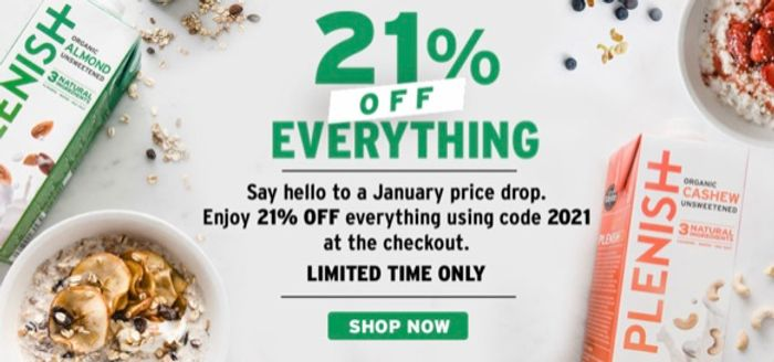 21% off Everything