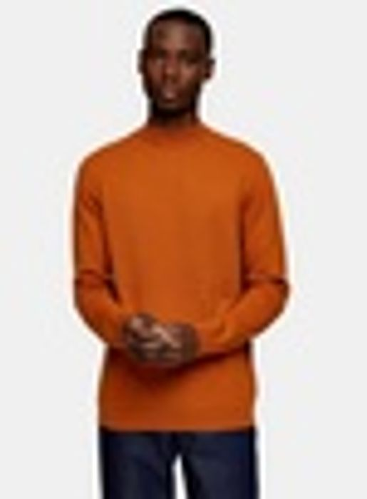 CONSIDERED Brown Turtle Neck Knitted Jumper