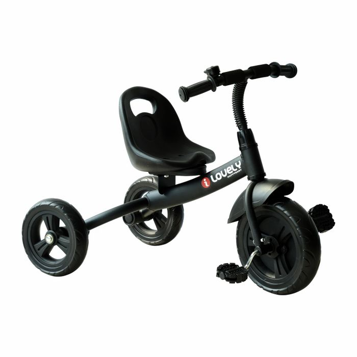 HOMCOM Toddler Three Wheel Plastic Tricycle Bike Black