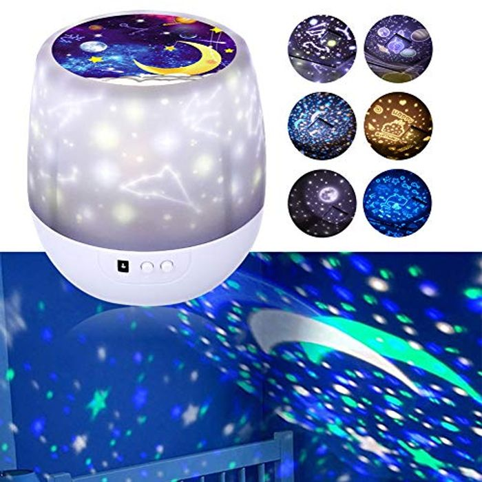 DEAL STACK - Kids Star Dimmable Night Light Projector + 5% Coupon