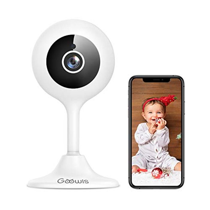 DEAL STACK - Wifi Camera Indoor, Goowls Baby Monitor + 20% Coupon