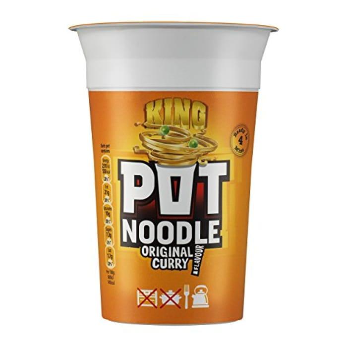 BEST EVER PRICE 12 x Pot Noodle Original Curry Flavour, King Pot Size