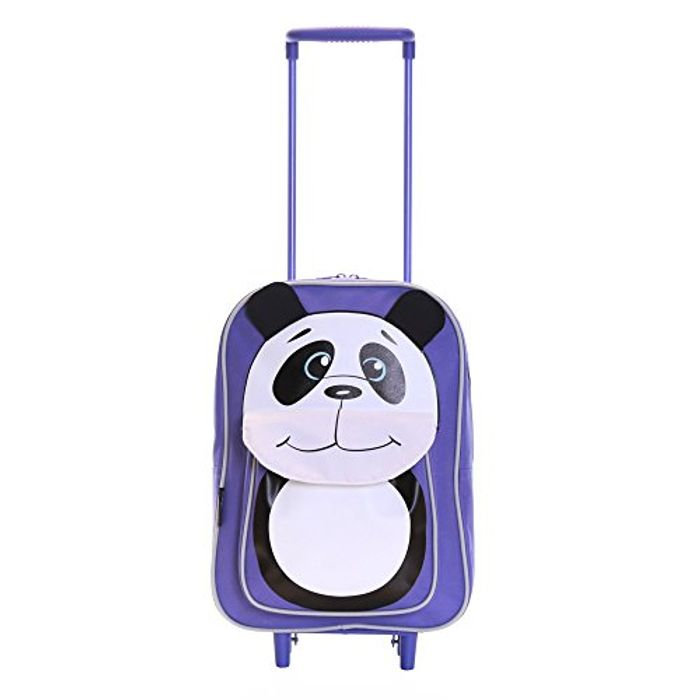Karabar Wildlife Kids Trolley Luggage Bag + 10 Free Masks