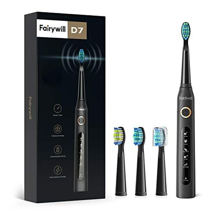 DEAL STACK - Fairywill Sonic Electric Toothbrushes + £4 Coupon