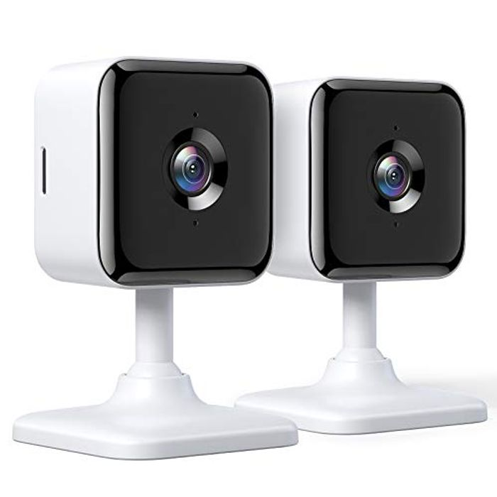 1080P Indoor Security Cameras with Night Vision (2 Pack)
