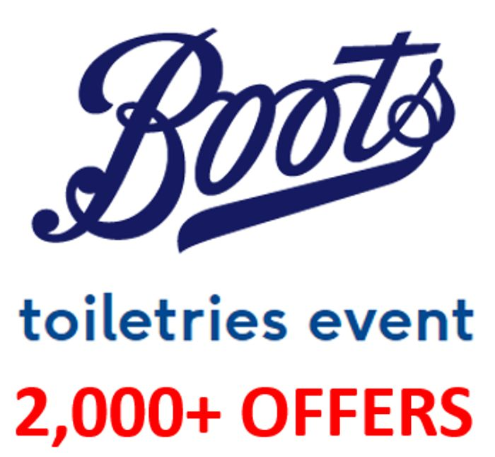 Boots Toiletries Event - HALF PRICE, 3 for 2, 50p...OVER 2,000 OFFERS!