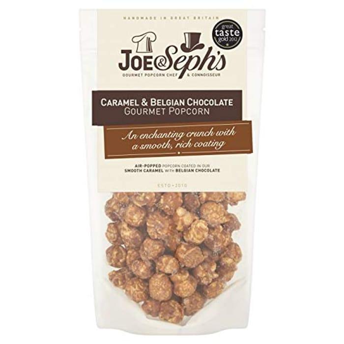 Joe & Seph's Belgian Chocolate Popcorn for Vegetarians Gluten Free