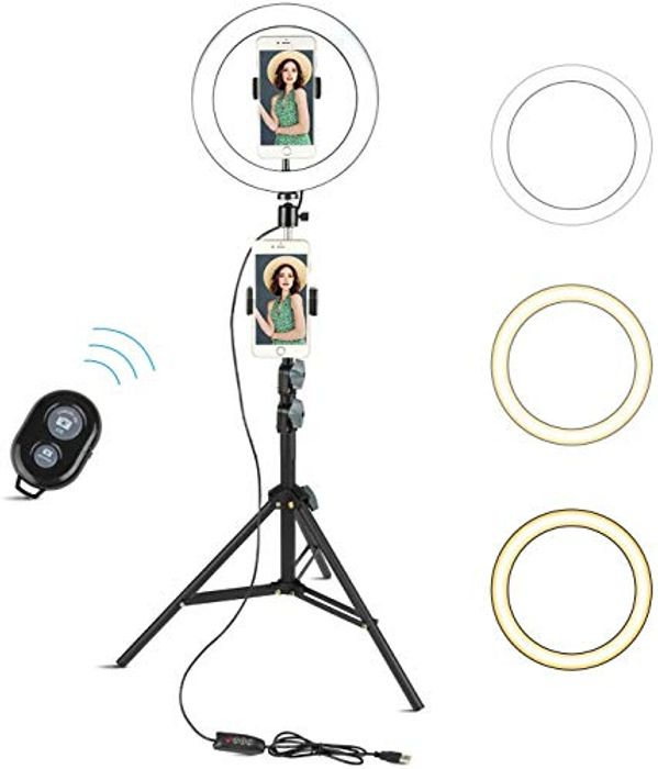 "10"" Selfie Ring Light with Tripod Stand & Cell Phone Holder"
