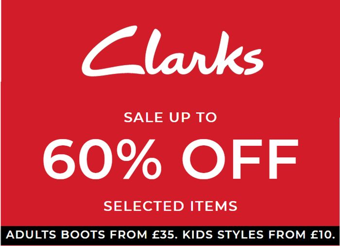 Clarks Shoes & Boots Sale - up to 60% OFF - Womens, Mens, Girls & Boys