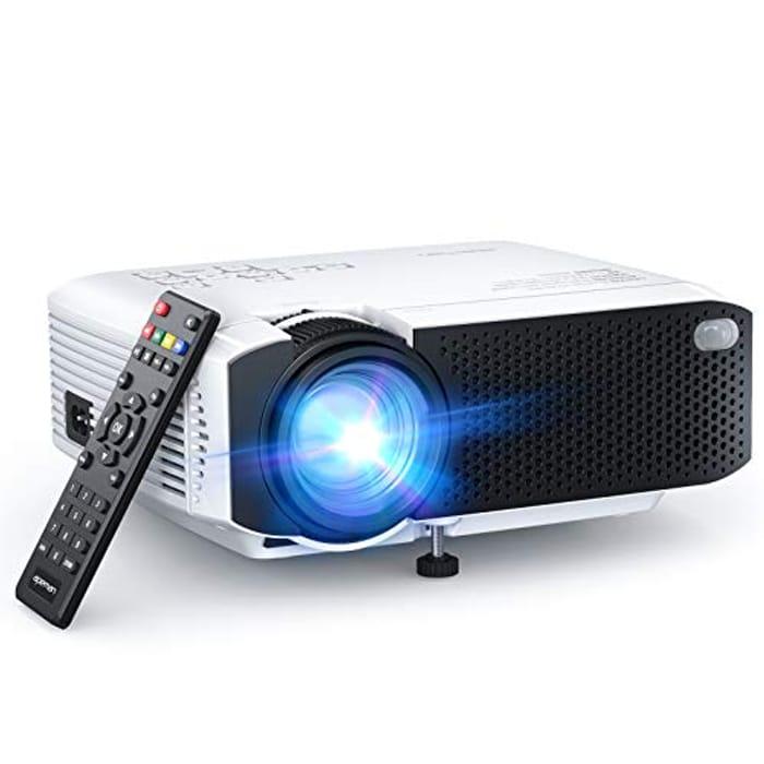 Portable Mini Projector 5500 Lumens [2021 Upgraded]