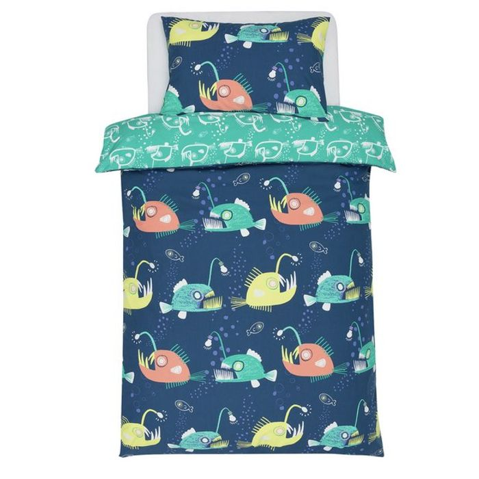 Argos Home Anglerfish Glow in the Dark Bedding Set - Single