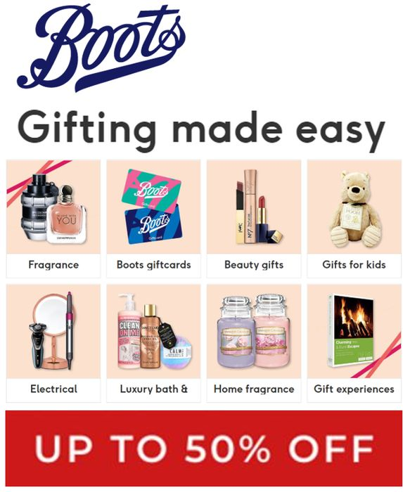 Special Offer - Boots Gift Offers for Every Occasion, Gift Ideas - up to 50% OFF