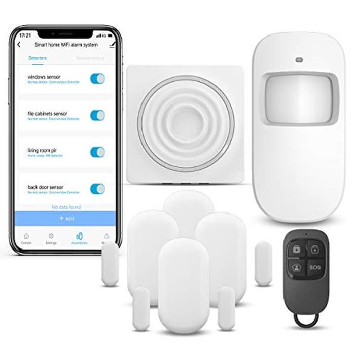 Half Price! Wireless Security Alarm 7 Piece Kit