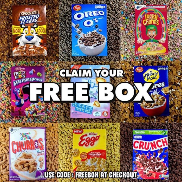 Free Box of Mystery Cereal on Orders over £10