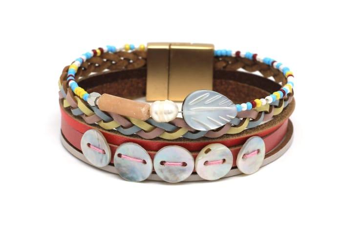 Jerboa Multi Leather Magnet Bracelet
