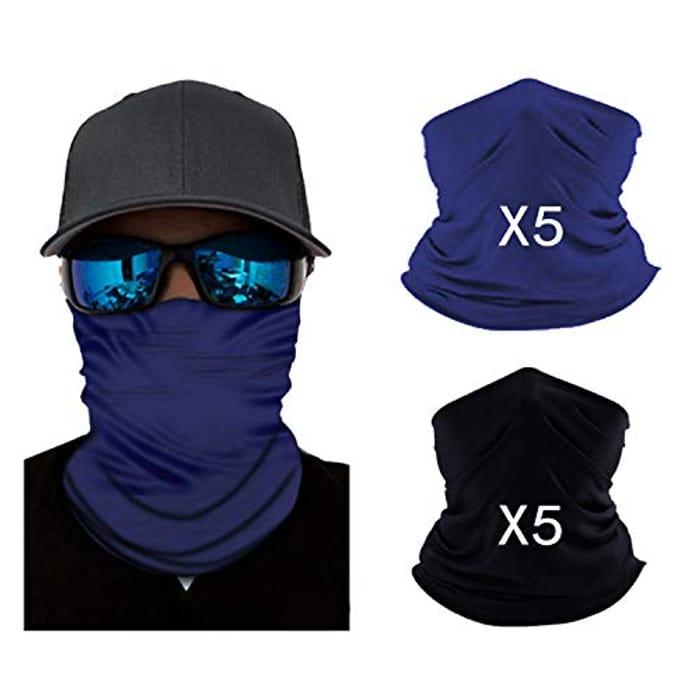 10 X Breathable Bandana Face Mouth Covering Headbands