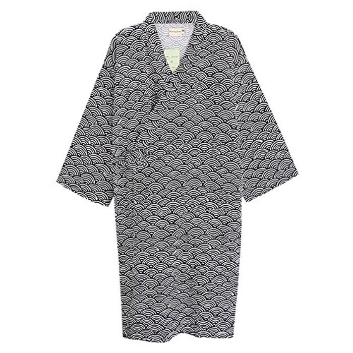 Kimono Bathrobe Cotton Dressing Gown Summer Lightweight