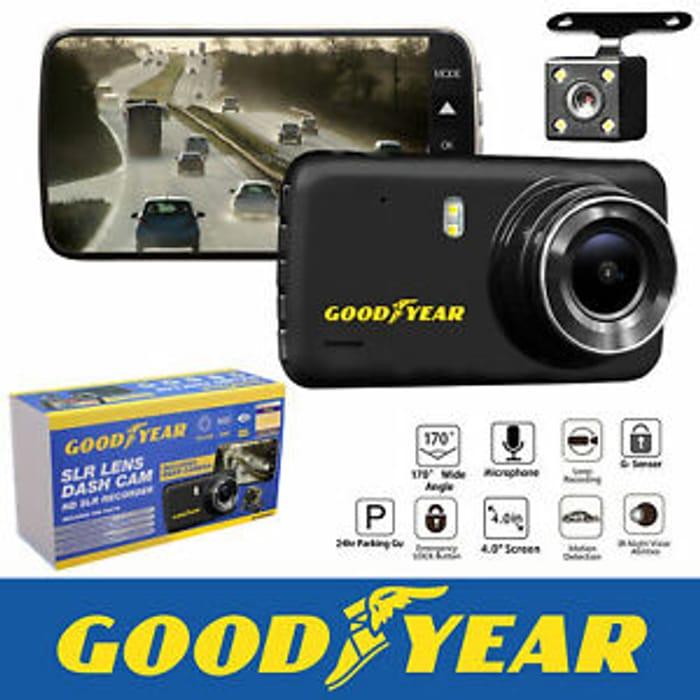 Goodyear 1080P Dual Lens Dash Cam