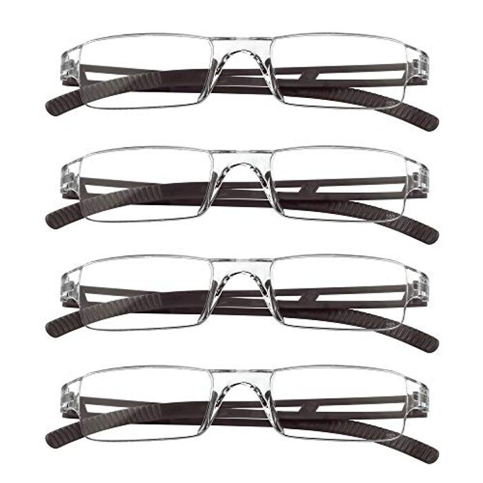 DEAL STACK - 4 Pairs Computer Reading Glasses for Women and Men + 30% Coupon