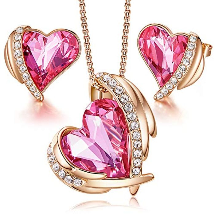 DEAL STACK - CDE Love Heart Gold Plated Jewellery Gifts for Women + 15% Coupon