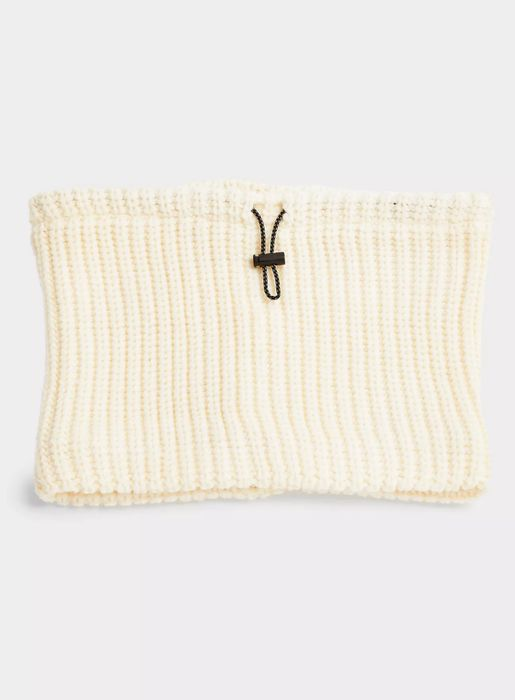 White Knitted Snood Scarf - Only £3!