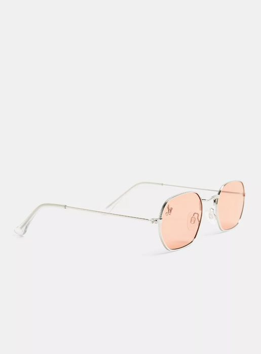 JEEPERS PEEPERS Silver Hexagon Sunglasses*